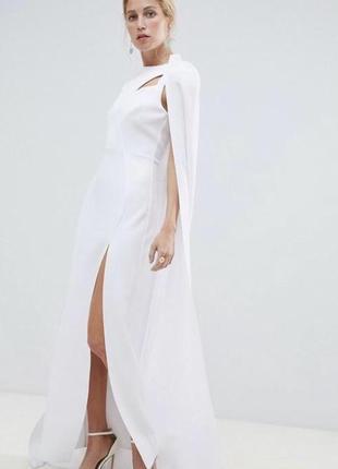 Продам красивое свадебное платье со шлейфом кейп