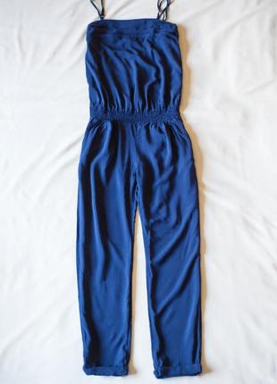 Синий летний брючный комбинезон promod, размер м