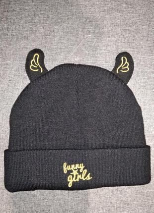 Ovs стильная шапка с ушками крылышками