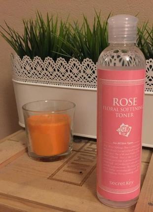 Тоник для лица с розовой водой