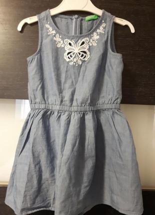 Платье под джинс benetton