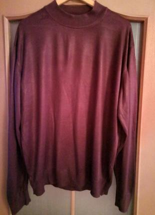 Мужской пуловер, гольф большого размера