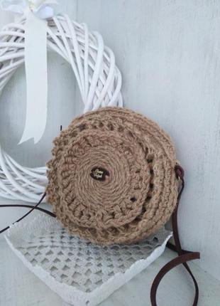 Еко сумка плетена джут