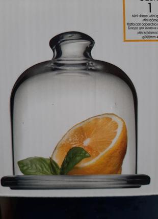 Блюдо для лимона с крышкой,стекло