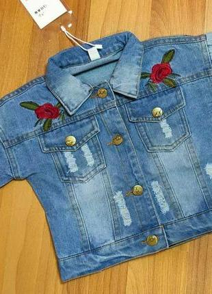 Стильная джинсовка на девочку