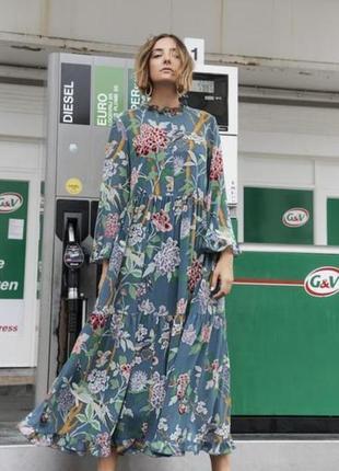 Невероятное шифоновое платье миди gp & j baker x h&m батал