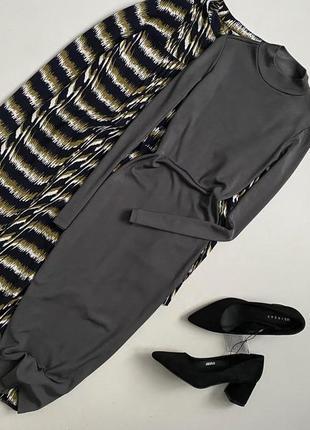 Трендовое платье в рубчик миди h&m