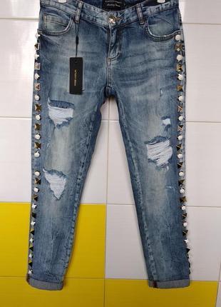 ‼️ sale ‼️ джинсы с шипами новая коллекция amn raw