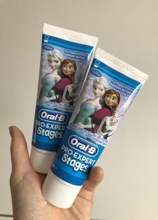 Детская зубная паста для девочек oral b 75 мл. до 6 лет. товары из германии