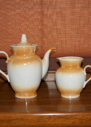 Набор - чайник заварочный и молочник / сливочник