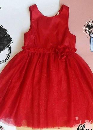 Платье h&m красное девочка 4-5 лет (110см) в идеале