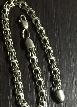 Серебряный браслет. размер :21 см.