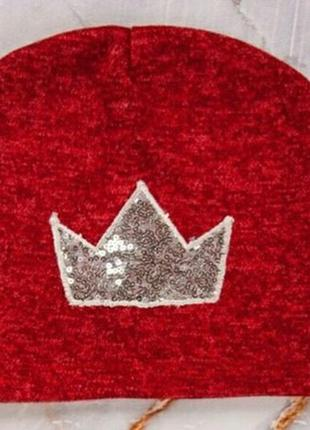 Шапка с короной из ангора софт