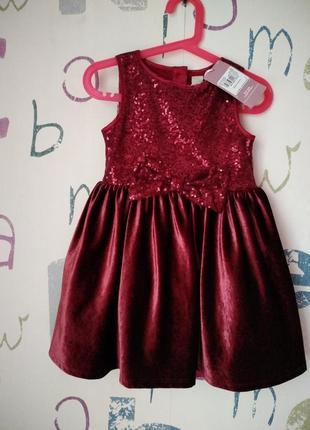 Платье tu новое девочка 2-3 года (92см)