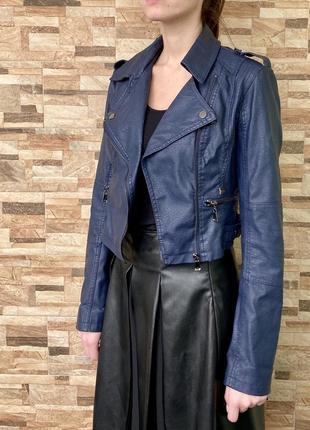 Укороченная куртка из искусственной кожи