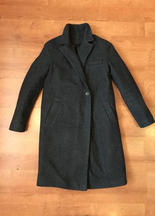 Пальто тёплое зимнее шерсть на синтепоне