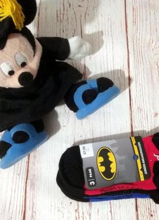 Супер качество ! комплект 3шт фирменных , спортивных хлопковых носочков ,бэтмен германия