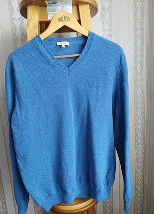 Мужской тонкий шерстяной пуловер aigle франция