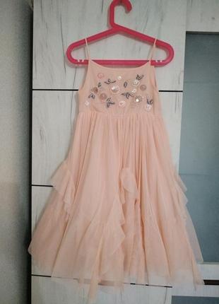 Платье koton kids нарядное девочка 6-7 лет(116-122см)  как новое