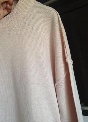 Нежный пудровый свитерок h&m размер с-м