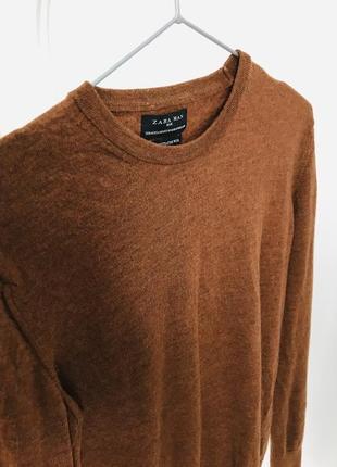 Zara пуловер мужской шерсть