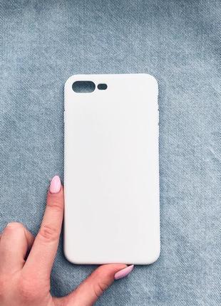 Белый чехол на iphone 7+/8+