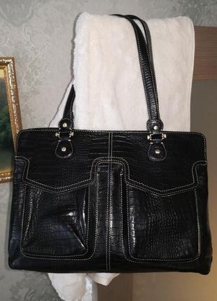 Шикарная статусная кожаная сумка liz claiborne👜👜👜🎀
