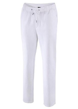 Шикарные мужские льняные брюки л 52 евро livergy.
