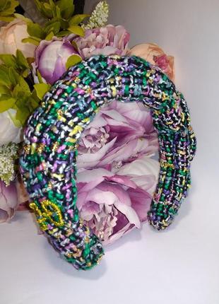 Ободок из твида в стиле гуччи gucci