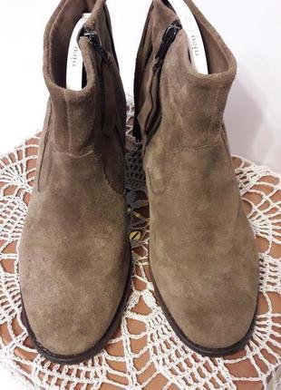 Замшевые ботинки ~ zara ~