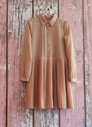 Шикарное платье рубашка, платье плиссе