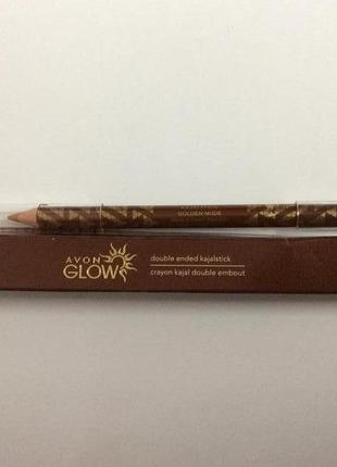 Карандаш для глаз avon glow -сияние лета -golden nude