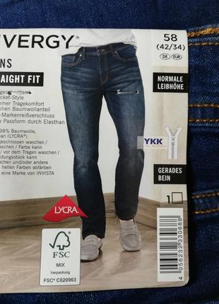 Отличные синие джинсы 58 euro, 42-34 slim fit livergy, германия