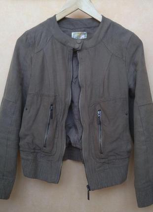 Весенняя/осенняя куртка с искусственной замши pull&bear