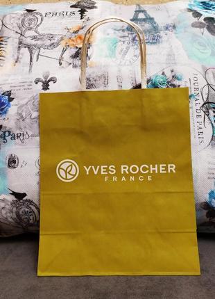 Паперовий пакет yves rocher ив роше yves rocher