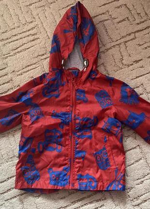 Куртка вітровка next 2-3 роки на котоновій підкладці