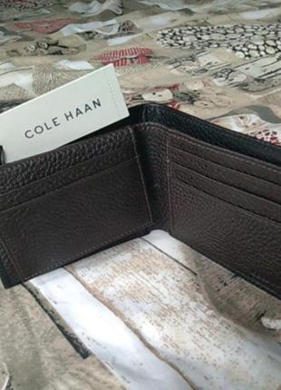 Мужской кожаный кошелёк cole haan оригинал из сша / чоловічий шкіряний гаманець