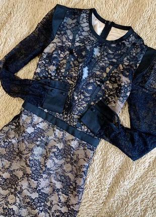 Вечернее гипюровое платье в пол, размер xs-s
