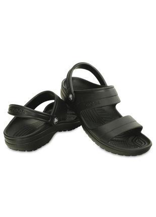 Сандали мужские крокс классик чёпные crocs classic sandal black
