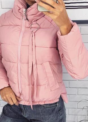 Куртка курточка верхняя одежда розовая цвета в ассортименте