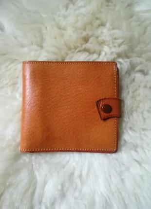 Рыжий мужской кожаный кошелек genuine pigskin