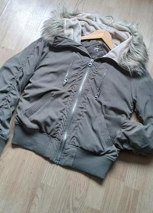 Бомпер парка бархатная куртка демисезон