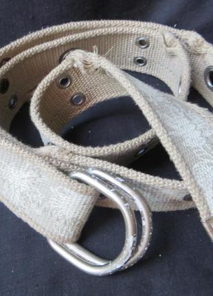 Ремень с люверсами винтаж.текстиль 115 см.сост нового