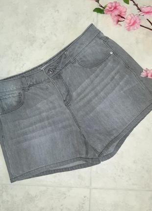 1+1=3 фирменные короткие джинсовые серые шорты pimkie, размер 46 - 48