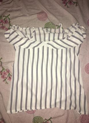 Майка блуза блузка футболка полосатая