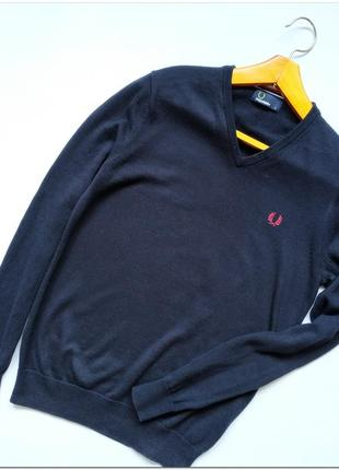 Мужской пуловер fred perry из шерсти мериноса