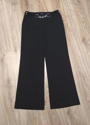 Итальянские брюки штаны широкие черные с декором oltre