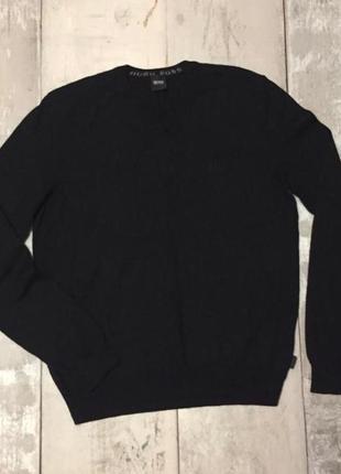 Boss пуловер, свитер чёрный шерсть