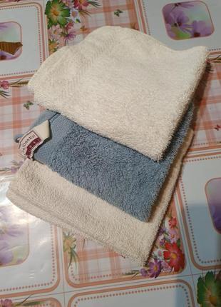 Комплект махровых салфеток-полотенец -3шт
