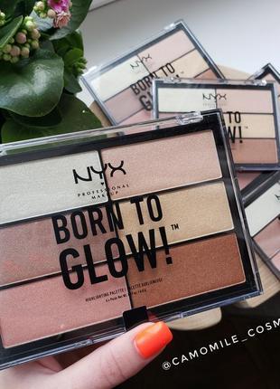 Палетка для лица nyx born to glow
